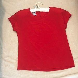 Vintage Emanuel Ungaro Parallele Paris Red Blouse